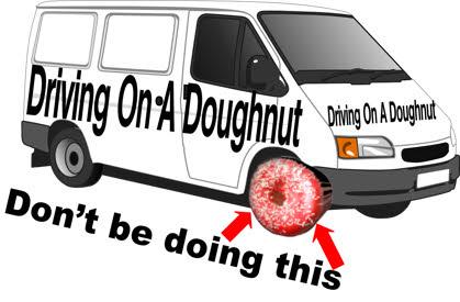 driving on a doughnut - Matthew Shelton