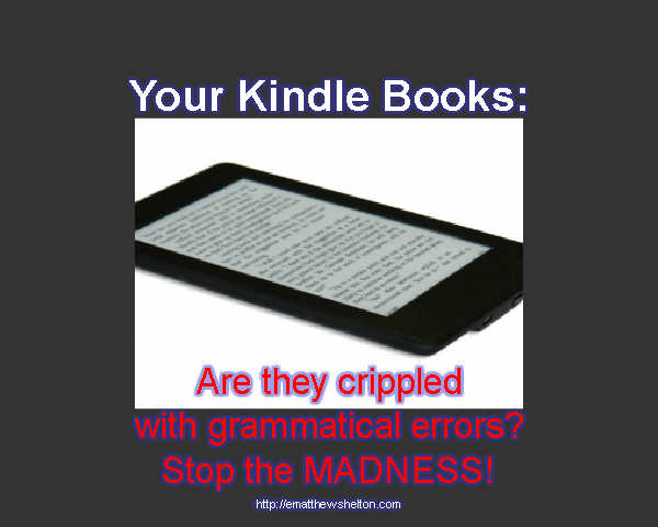 kindle book editing and proofreading