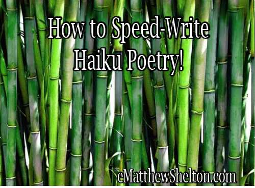 how to speed-write haikus
