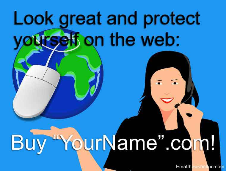 buy your name as a domain name